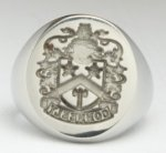Family Crest Ring Reversed Sterling Silver
