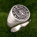 Family Crest Ring Sterling Silver